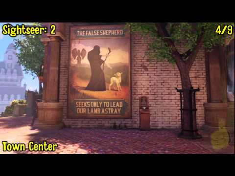 Bioshock Infinite: All Collectibles Locations – Part 1 (Voxophones, Sightseers, Infusions) -HTG