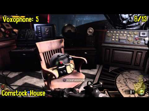 Bioshock Infinite: All Collectibles Locations – Part 15 (Voxophones, Sightseers, Infusions) -HTG
