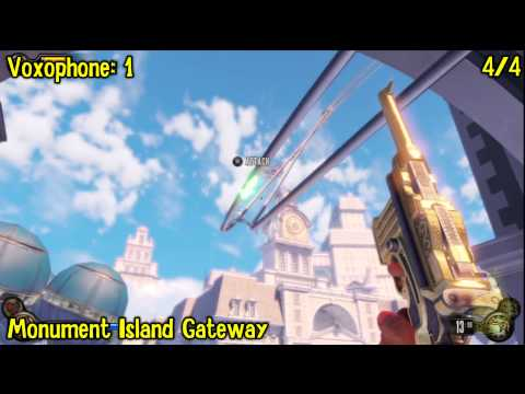 Bioshock Infinite: All Collectibles Locations – Part 3 (Voxophones, Sightseers, Infusions) -HTG