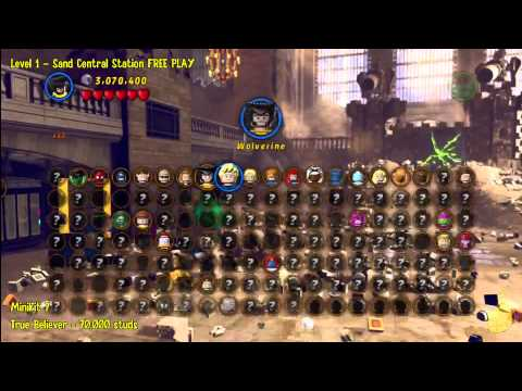 Lego Marvel Super Heroes: Level 1 Sand Central Station – FREE PLAY (All Minikits/Stan In Peril)- HTG
