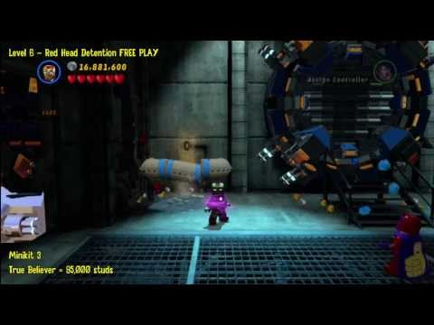 Lego Marvel Super Heroes: Level 6 Red Head Detention – FREE PLAY (Minikits and Stan In Peril) – HTG