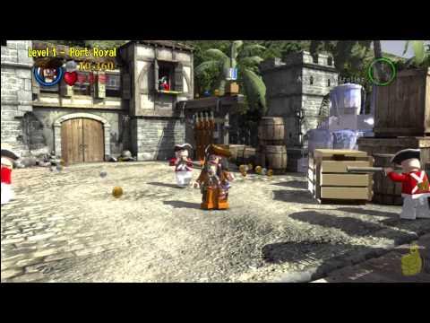 Lego Pirates of the Caribbean: Level 1 Port Royal – Story Walkthrough- HTG