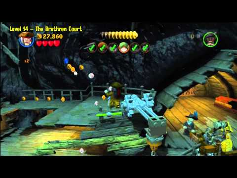 Lego Pirates of the Caribbean: Level 14 The Brethren Court – Story Walkthrough – HTG