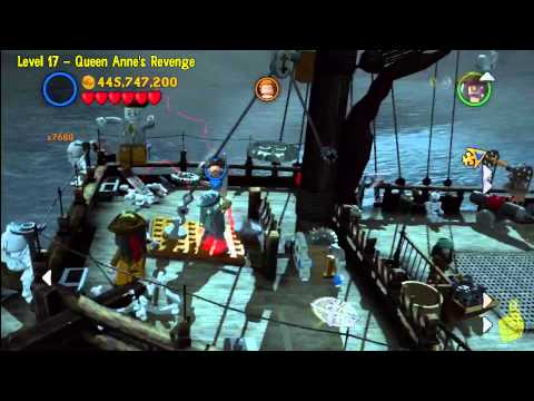 Lego Pirates of the Caribbean: Level 17 Queen Annes Revenge – FREE PLAY (Minikits and Compass) – HTG