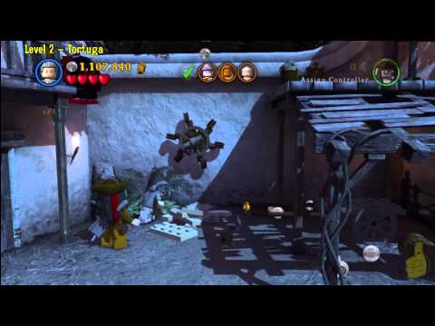 Lego Pirates of the Caribbean: Level 2 Tortuga – FREE PLAY (Minikits and Compass Items) – HTG