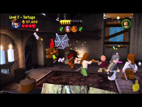 Lego Pirates of the Caribbean: Level 2 Tortuga – Story Walkthrough – HTG