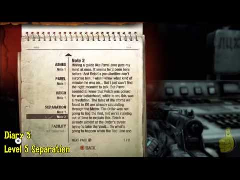 Metro Last Light: Published Trophy/Achievement (Artyom's Diary Locations) – HTG