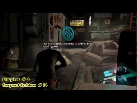 Resident Evil 6: Jake Campaign – All 20 Serpent Emblems – HTG