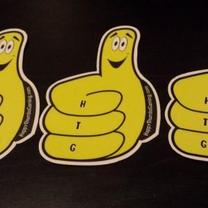 Thumby vinyl sticker 3 Pack