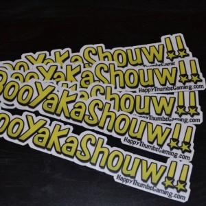 BooYaKaShouw 5 Pack Vinyl Stickers