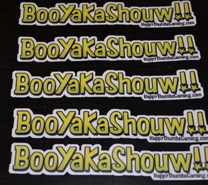 BooYaKaShouw 5 Pack Product Vinyl Stickers