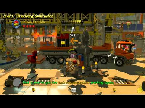 The Lego Movie Videogame: Level 1 Bricksburg Construction – FREE PLAY – (Pants & Gold Manuals) – HTG