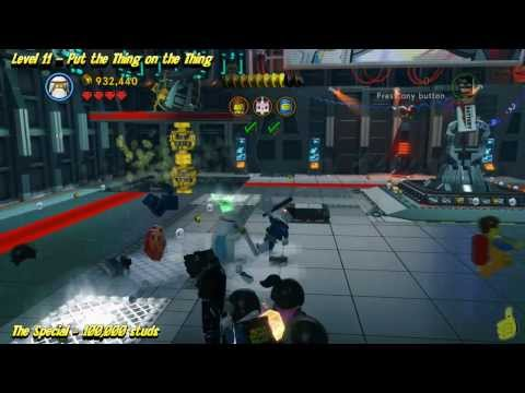 The Lego Movie Videogame: Level 11 Put the Thing on the Thing – STORY Walkthrough – HTG