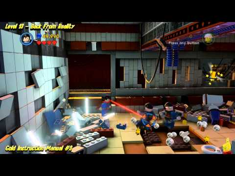 The Lego Movie Videogame: Level 13 Back From Reality – FREE PLAY – (Pants & Gold Manuals) – HTG