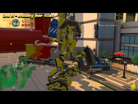 The Lego Movie Videogame: Level 14 Bricksburg Under Attack – FREE PLAY – (Pants & Gold Manuals)- HTG – YouTube thumbnail