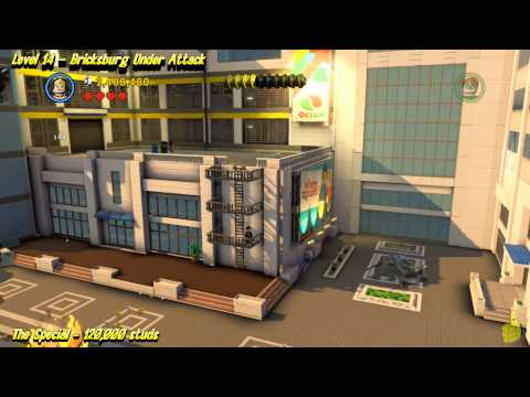 The Lego Movie Videogame: Level 14 Bricksburg Under Attack – STORY Walkthrough – HTG