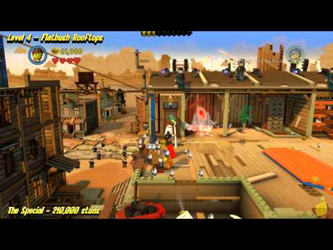 The Lego Movie Videogame: Level 4 Flatbush Rooftops – STORY Walkthrough – HTG