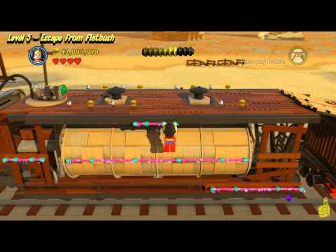 The Lego Movie Videogame: Level 5 Escape From Flatbush – FREE PLAY – (Pants & Gold Manuals) – HTG