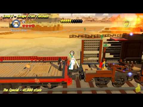 The Lego Movie Videogame: Level 5 Escape from Flatbush – STORY Walkthrough – HTG