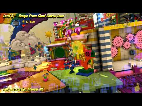 The Lego Movie Videogame: Level 8 Escape From Clouckoo Land – FREE PLAY -(Pants & Gold Manuals)- HTG
