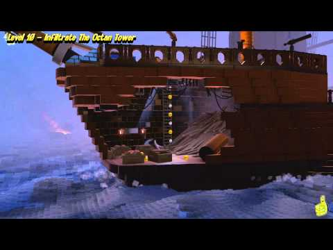 The Lego Movie Videogame: Lvl 10 Infiltrate the Octan Tower – FREE PLAY -(Pants & Gold Manuals)- HTG