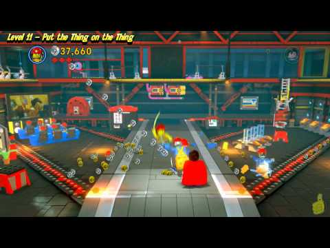 The Lego Movie Videogame: Lvl 11 Put That thing in the Thing – FREE PLAY (Pants & Gold Manuals)- HTG