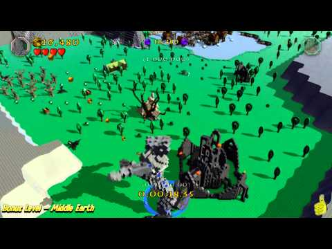 "Lego The Hobbit: Bonus Level (""Stone Giant Stomp"" Trophy/Achievement) – HTG – YouTube thumbnail"