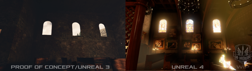 H-Hour three windows in Unreal 4