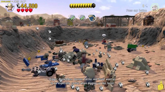 Lego Jurassic World: Level 1 Prologue FREE PLAY (All Collectibles) – HTG