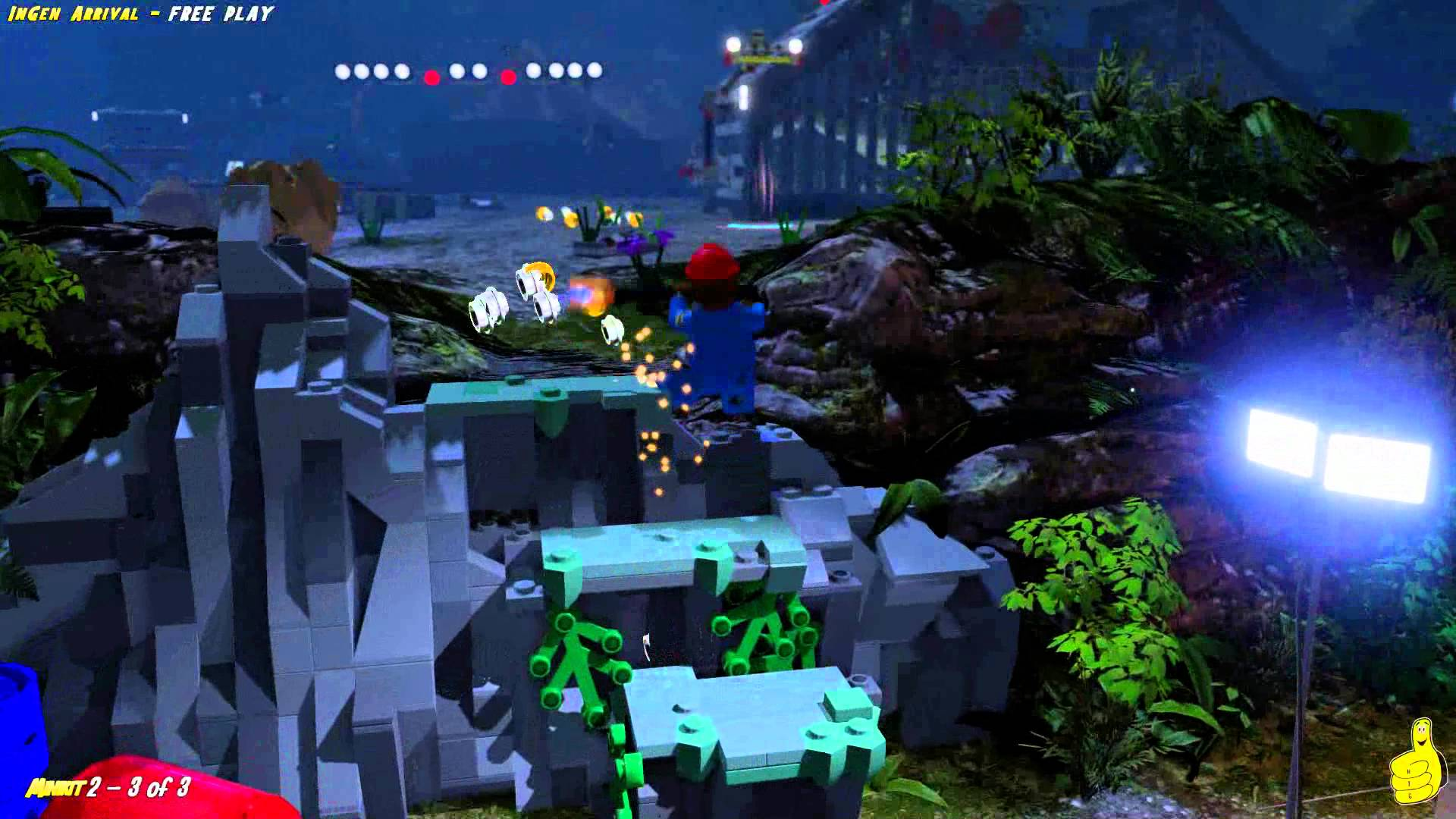 Lego Jurassic World: Level 7 InGen Arrival FREE PLAY (All Collectibles) – HTG