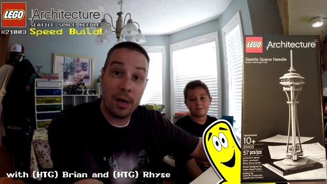 LEGO Speed Build: Seattle Space Needle #21003 with Brian and Rhyse – HTG