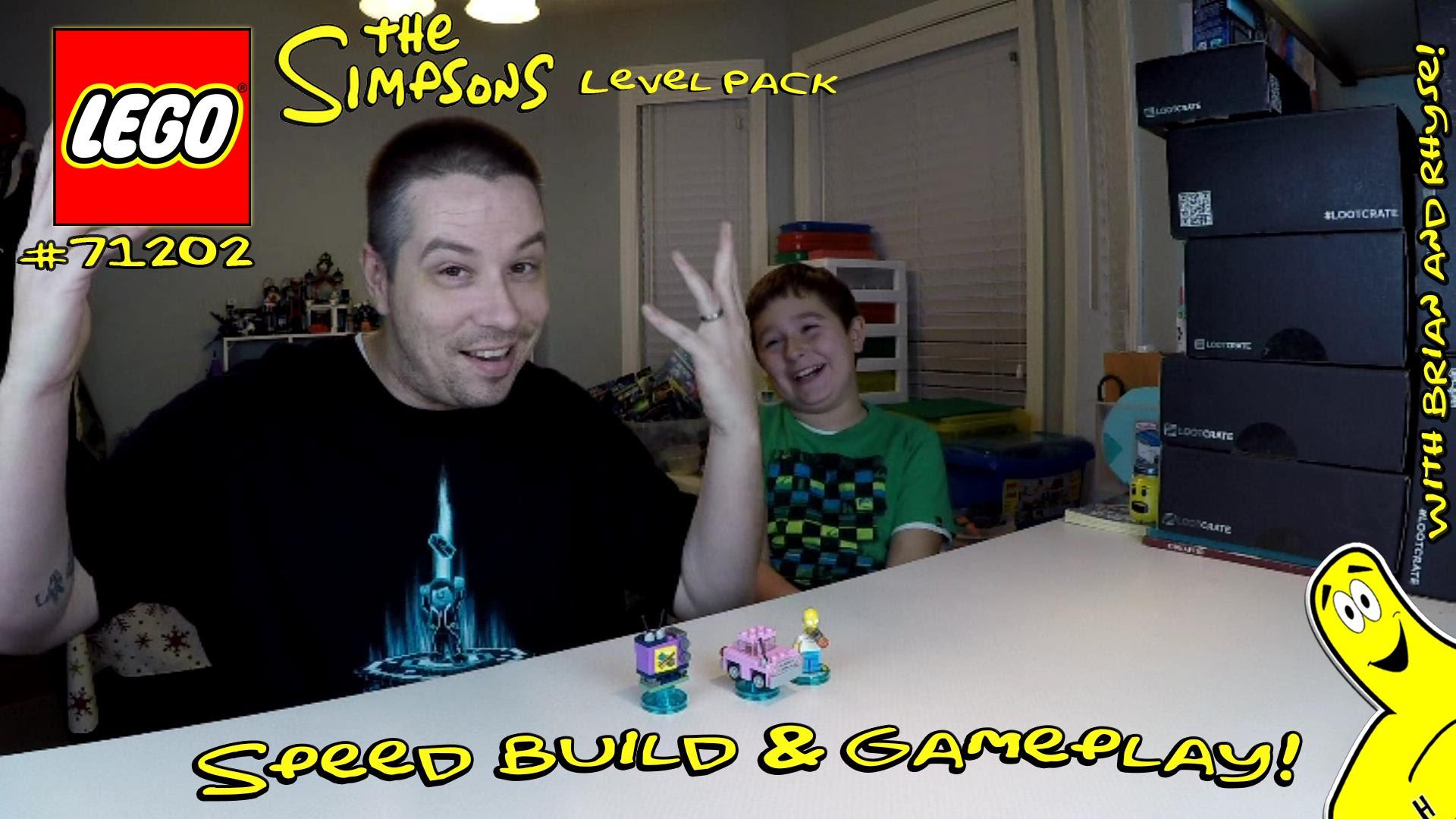 Lego Dimensions: #71202 Simpsons LEVEL Pack Unboxing/SpeedBuild/Gameplay – HTG