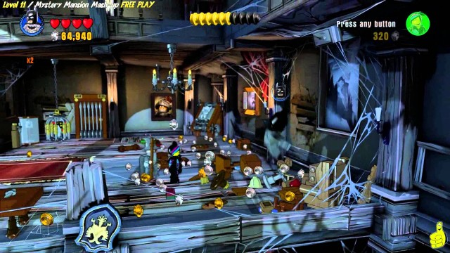 Lego Dimensions: Lvl 11 Mystery Mansion Mash-up FREE PLAY (All Starter Pack Minikits) – HTG
