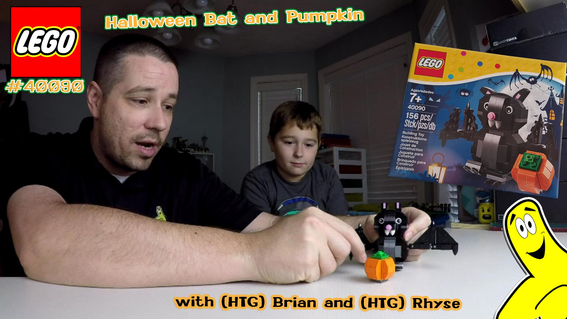 LEGO Speed Build: Halloween Bat & Pumpkin set #40090 (+ Oct 16 contest info) – HTG
