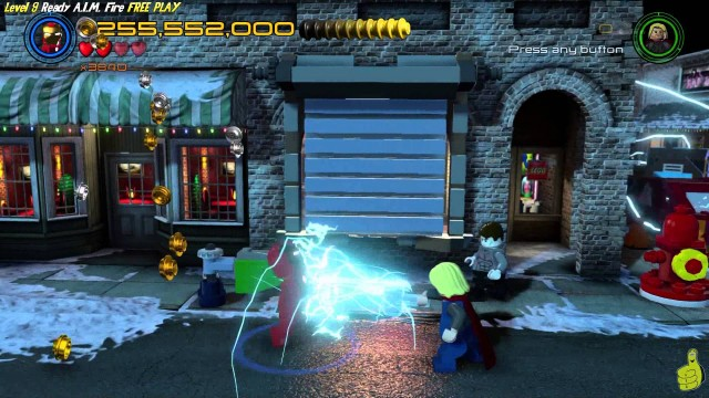 Lego Marvel Avengers: Lvl 9 / Ready A.I.M. Fire FREE PLAY (All Collectibles) – HTG