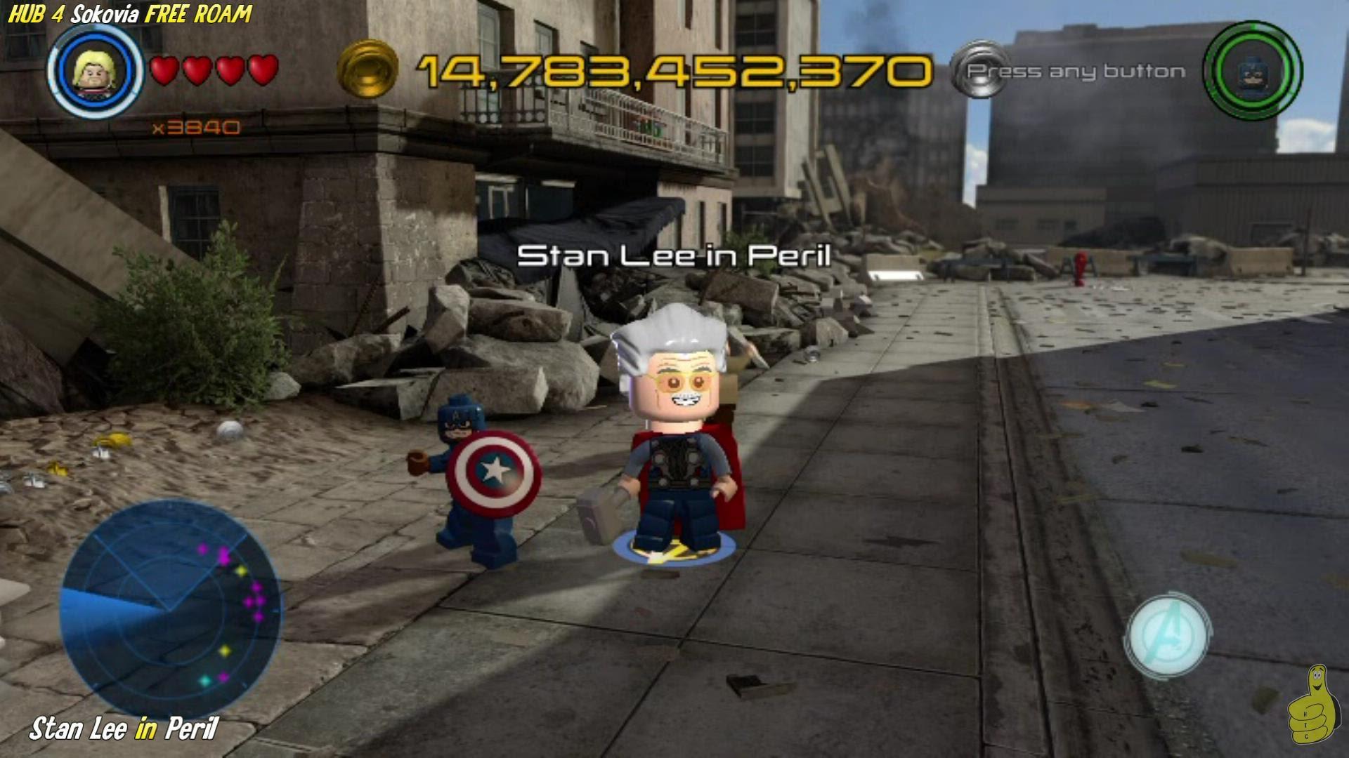 Lego Marvel Avengers: HUB 4 / Sokovia FREE ROAM (All Collectibles) – HTG