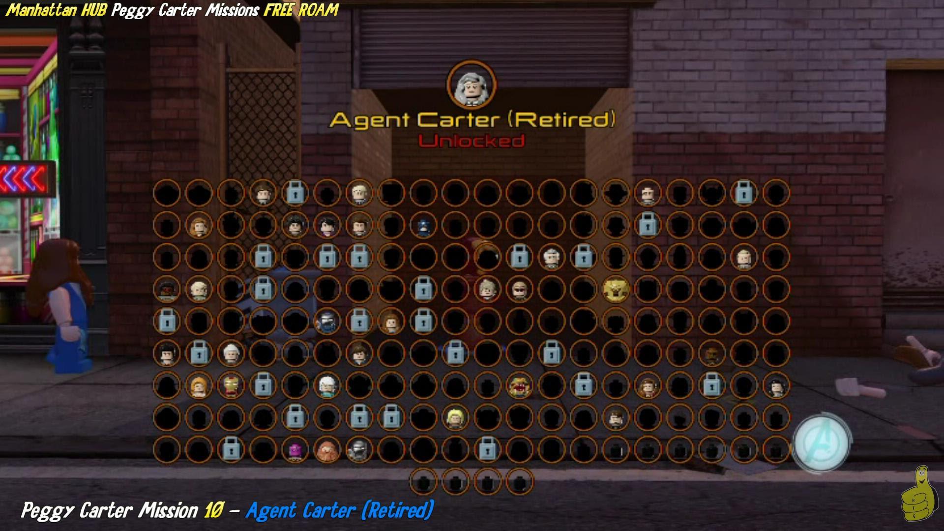 Lego Marvel Avengers: Manhattan HUB / Agent Peggy Carter Missions FREE ROAM (All 10 Missions) – HTG