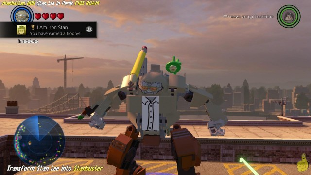 Lego Marvel Avengers: Manhattan Stan Lee in Peril Locations & I am Iron Stan Trophy/Achievement- HTG
