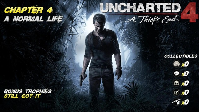 Uncharted 4: Chap. 4 A Normal Life (No Collectibles/Still Got it Trophy) – HTG