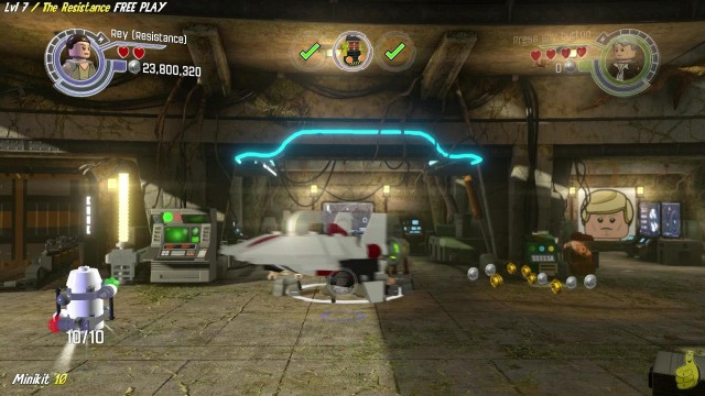 Lego Star Wars The Force Awakens: 7 / The Resistance FREE PLAY (All Minikits & Red Brick) – HTG