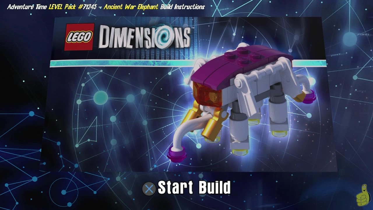 Lego Dimensions: Ancient War Elephant / Build Instructions (Adventure Time LEVEL Pack #71245) – HTG