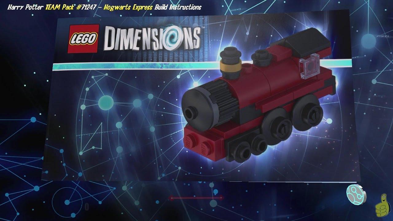 Lego Dimensions: Hogwarts Express / Build Instructions (Harry Potter TEAM Pack #71247) – HTG