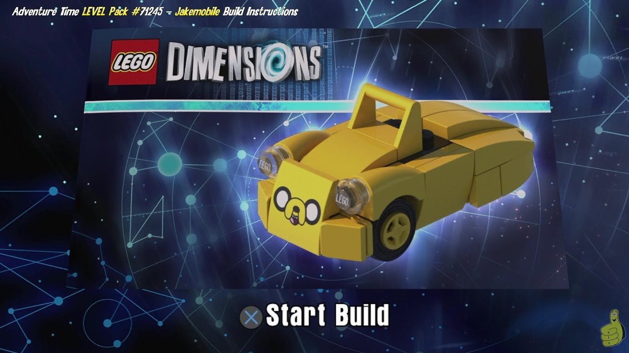 Lego Dimensions: Jakemobile / Build Instructions (Adventure Time LEVEL Pack #71245) – HTG