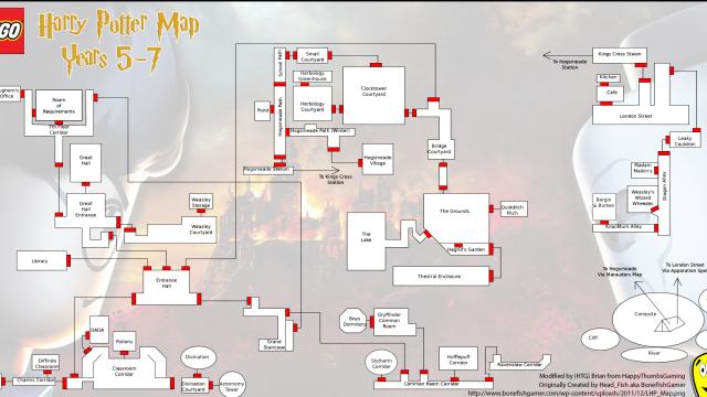 Lego Harry Potter Years 5-7 HUB Area Map – HTG