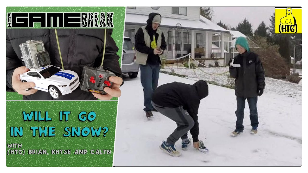 Gamebreak: Will It Go In The Snow Challenge (GoPro on an R/C car in the snow) – HTG