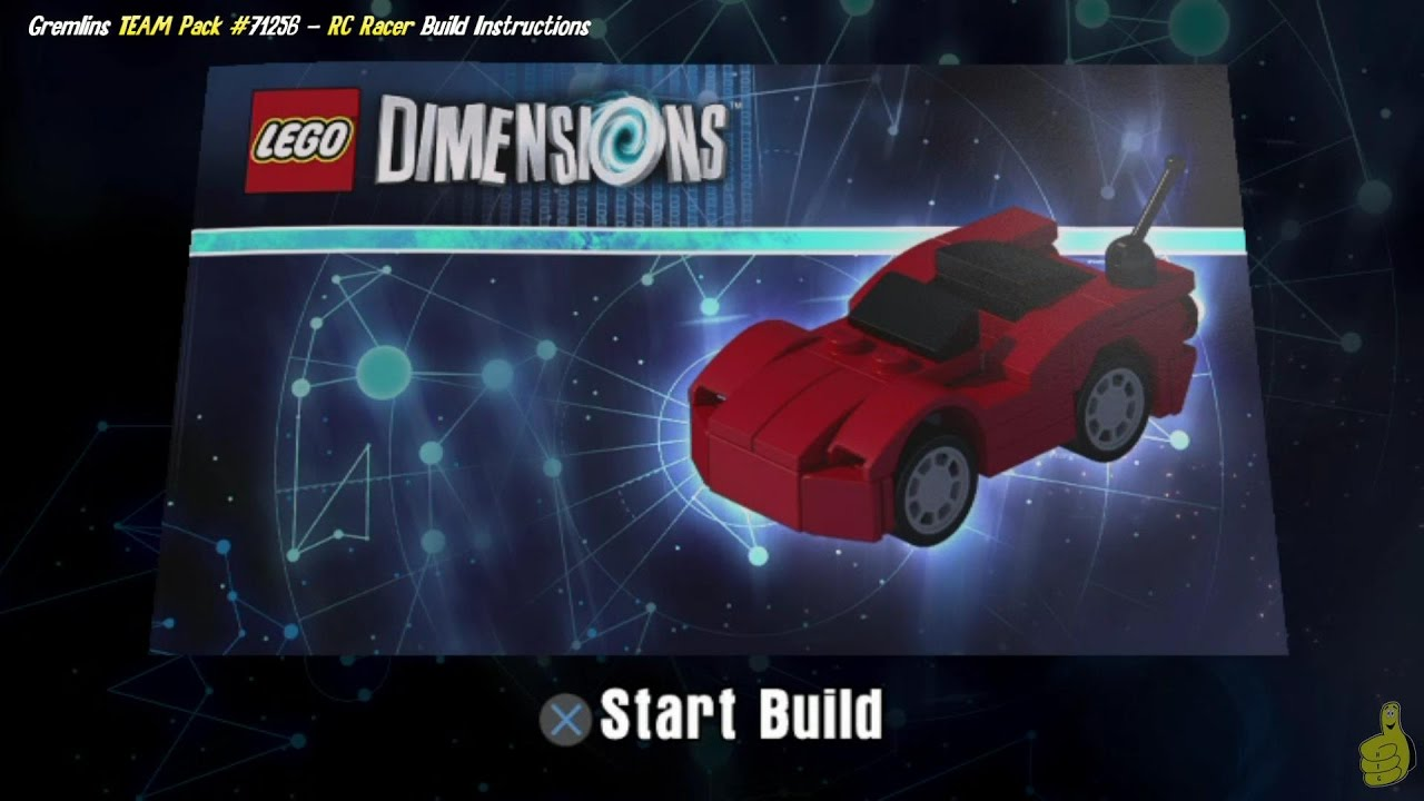 Lego Dimensions: RC Racer / Build Instructions (Gremlins TEAM Pack #71256) – HTG