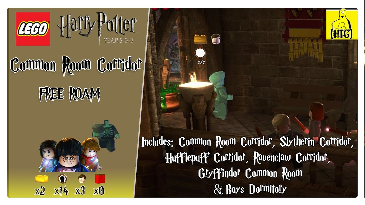 Lego Harry Potter 5-7: Common Room Corridor (All Dorm Rooms) FREE ROAM (All Collectibles) – HTG