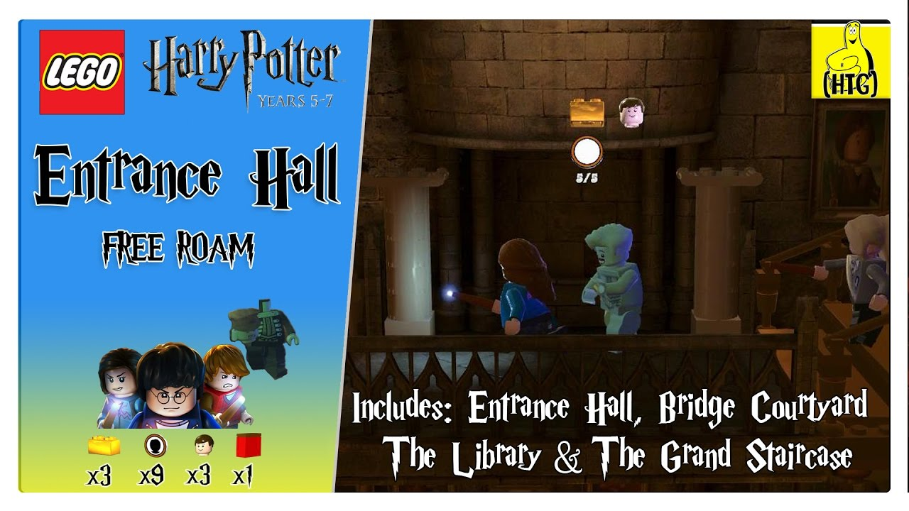 Lego Harry Potter 5-7: Entrance Hall FREE ROAM (All Collectibles) – HTG