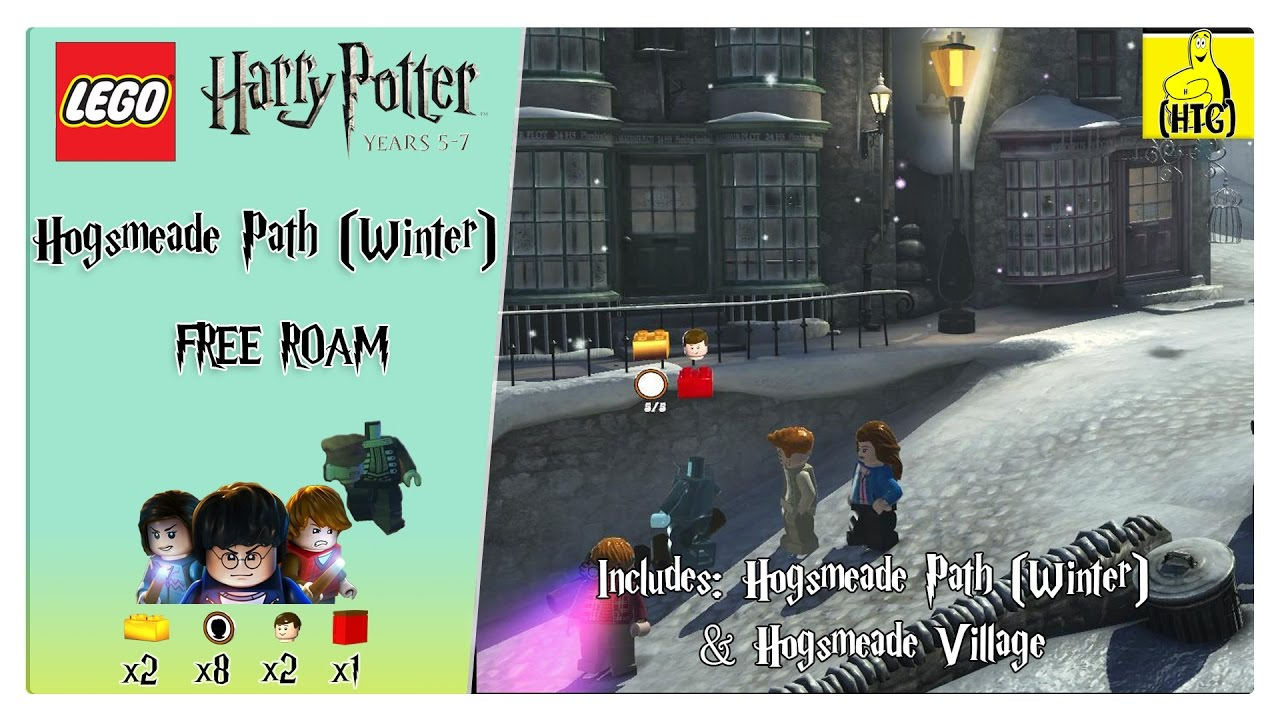 Lego Harry Potter 5-7: Hogsmeade Path (Winter) FREE ROAM (All Collectibles) – HTG