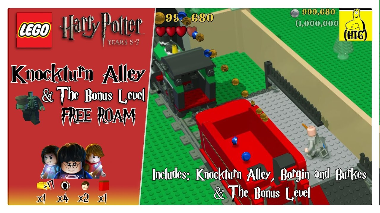 Lego Harry Potter 5-7: Knockturn Alley (+Bonus Level) FREE ROAM (All Collectibles) – HTG